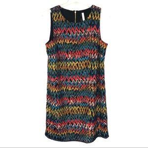 Kenzie Colorful Grafitti Sleeveless Dress M
